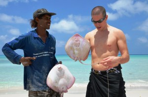 fisher man cought manta
